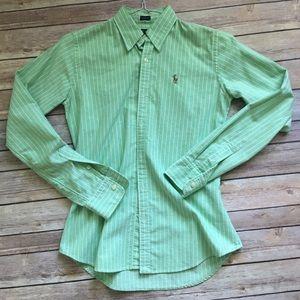 Ralph Lauren Green button down shirt